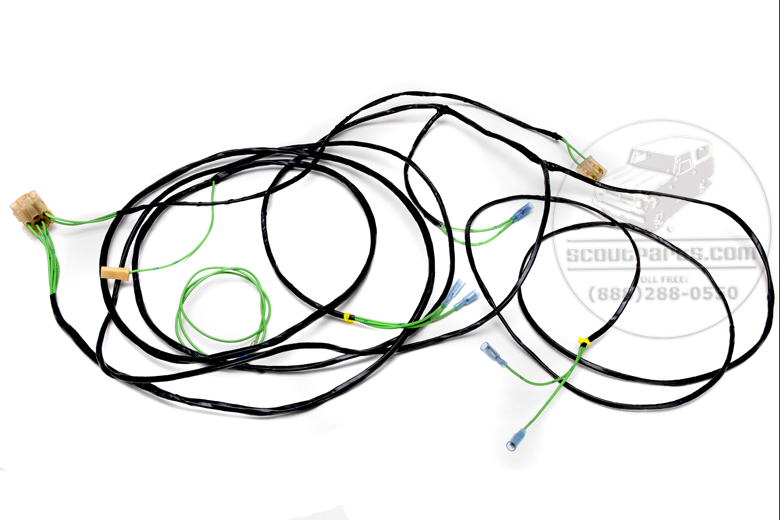 Scout 80 Rear Wiring Harness For With Alternator 1964-65