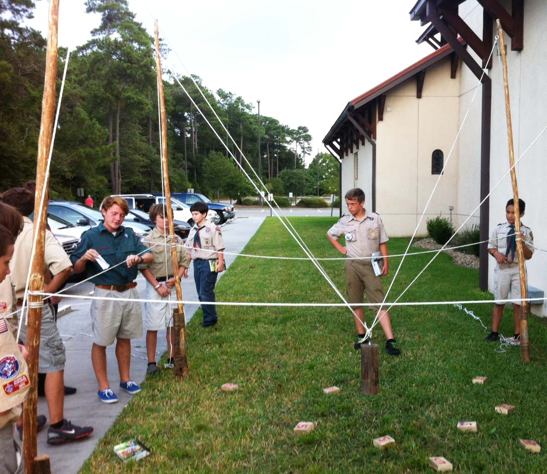 Team Building Activity In The Boy Scouts Scout