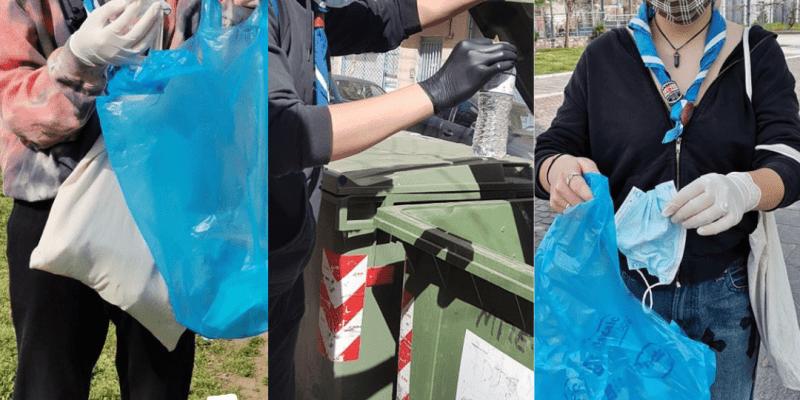 πρόσκοποι στην Λάρισα καθαρίζουν την γειτονιά τους