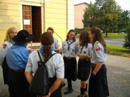Il Fuoco riunito prima della Santa Messa.