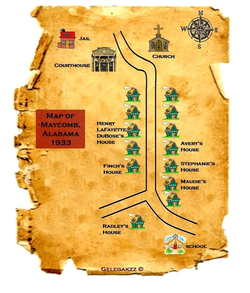 Mockingbird Kill Map Maycomb Town