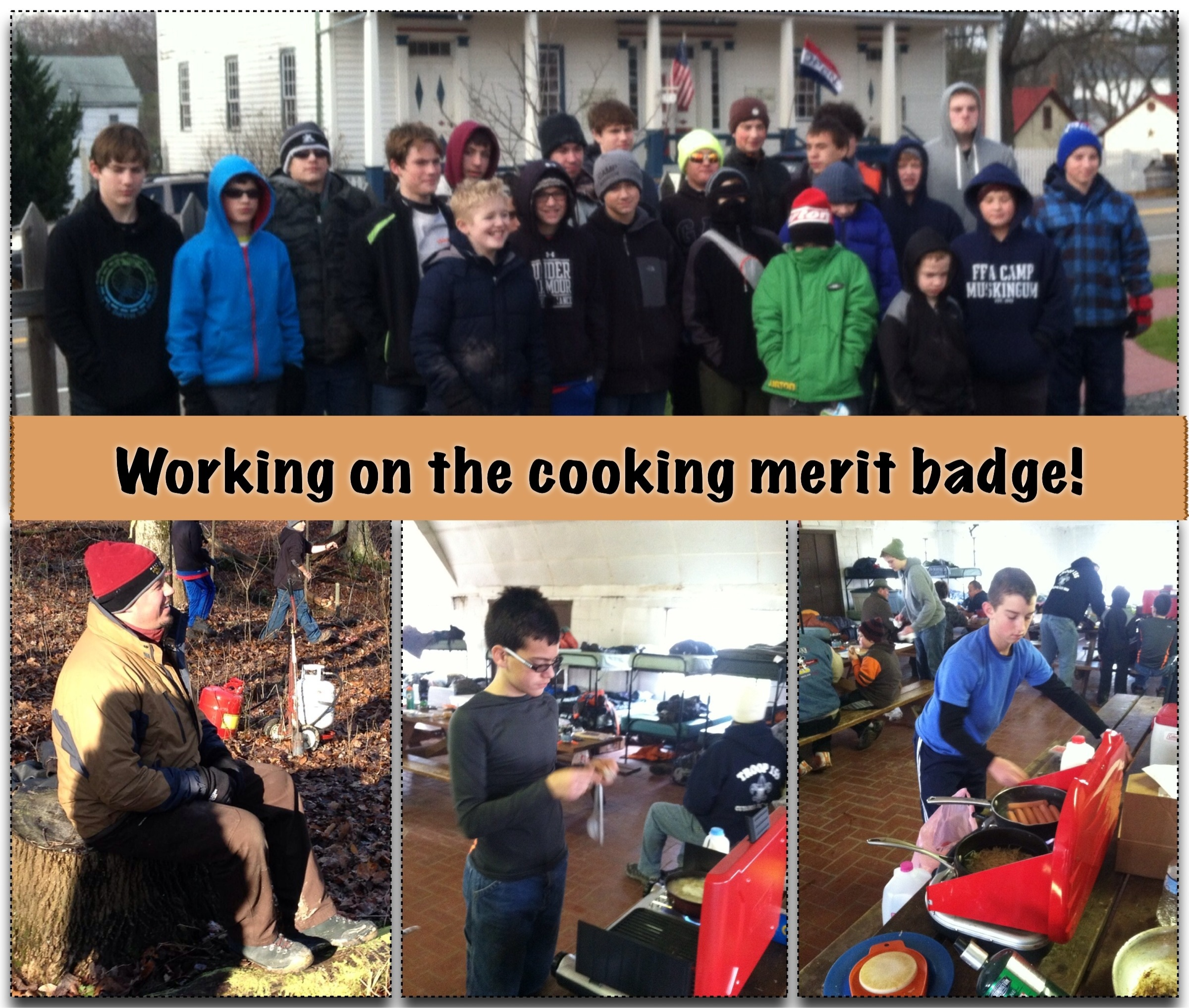 Cooking Merit Badge At Camp Tuscazoar Troop 155
