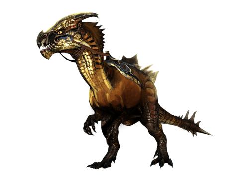 Concept art of the Guild Wars 2 raptor mount