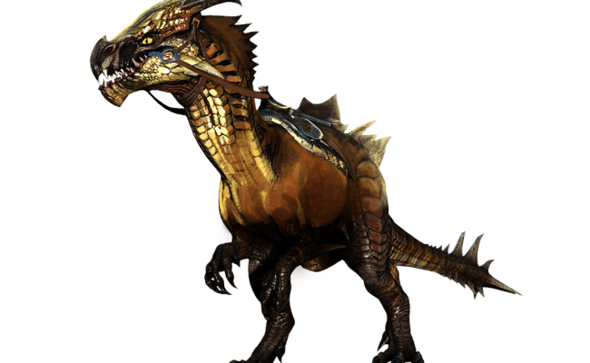 Concept art of the Guild Wars 2 raptor mount