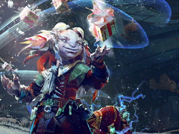 Tixx loading screen for Guild Wars 2 Wintersday