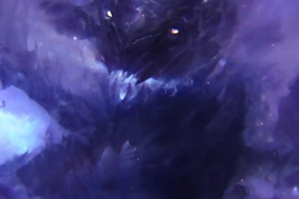 Concept art of the elderGuild Wars 2 deep sea dragon aka Bubbles