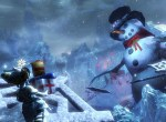 Snowman and an asura carrying presents Guild Wars 2 wintersday loading screen