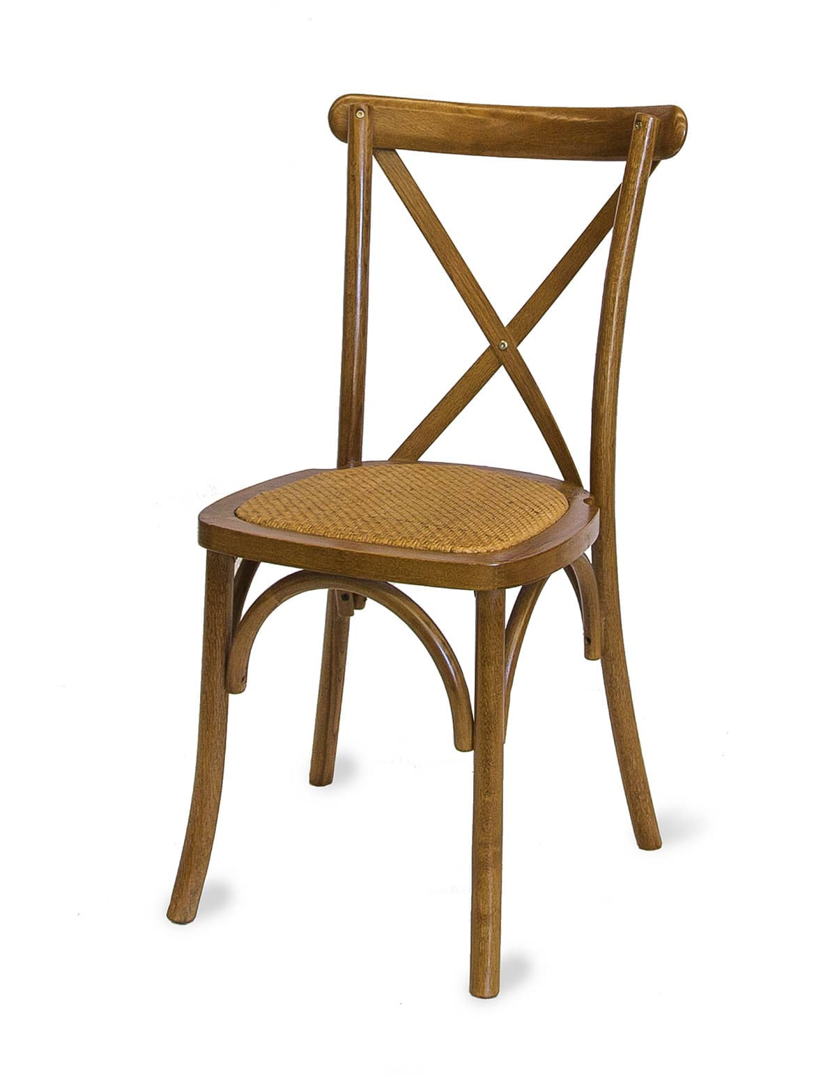 Wollongong Party Hire  Timber Cross Back Chair