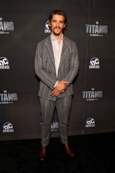 NEW YORK, NY - OCTOBER 03: Actor Brenton Thwaites attends DC UNIVERSE's Titans World Premiere on October 3, 2018 in New York City. (Photo by Dave Kotinsky/Getty Images for DC UNIVERSE)