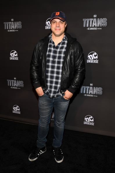 NEW YORK, NY - OCTOBER 03: Titans Executive Producer, Geoff Johns attends DC UNIVERSE's Titans World Premiere on October 3, 2018 in New York City. (Photo by Dave Kotinsky/Getty Images for DC UNIVERSE)