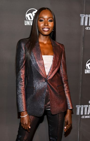 NEW YORK, NY - OCTOBER 03: Actress Anna Diop attends DC UNIVERSE's Titans World Premiere on October 3, 2018 in New York City. (Photo by Dave Kotinsky/Getty Images for DC UNIVERSE)