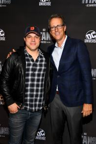 NEW YORK, NY - OCTOBER 03: Titans Executive Producers, Geoff Johns (L) and Greg Walker (R) attend DC UNIVERSE's Titans World Premiere on October 3, 2018 in New York City. (Photo by Dave Kotinsky/Getty Images for DC UNIVERSE)