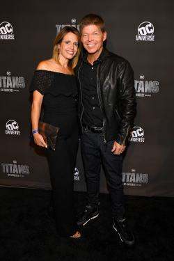 NEW YORK, NY - OCTOBER 03: Comic book creator Rob Liefeld (R) and Joy Creel attend DC UNIVERSE's Titans World Premiere on October 3, 2018 in New York City. (Photo by Dave Kotinsky/Getty Images for DC UNIVERSE)