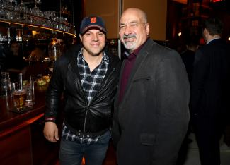 NEW YORK, NY - OCTOBER 03: Titans Executive Producer, Geoff Johns (L) and Publisher for DC, Dan DiDio attend DC UNIVERSE's Titans World Premiere on October 3, 2018 in New York City. (Photo by Dave Kotinsky/Getty Images for DC UNIVERSE)