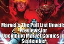 Marvel's The Pull List Unveils Previews for Upcoming Marvel Comics in September