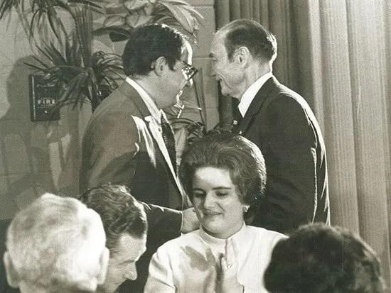 Kent Krell with Sen. Strom Thurmond.