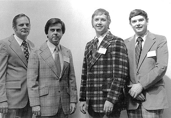 Hubert Osteen, Jr. poses with fellow SCPA officers during the late 1970's.