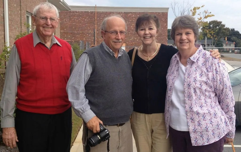 From left to right: Schulte, Bill Rogers, Pat Mcneely, and Sharon Kelly.