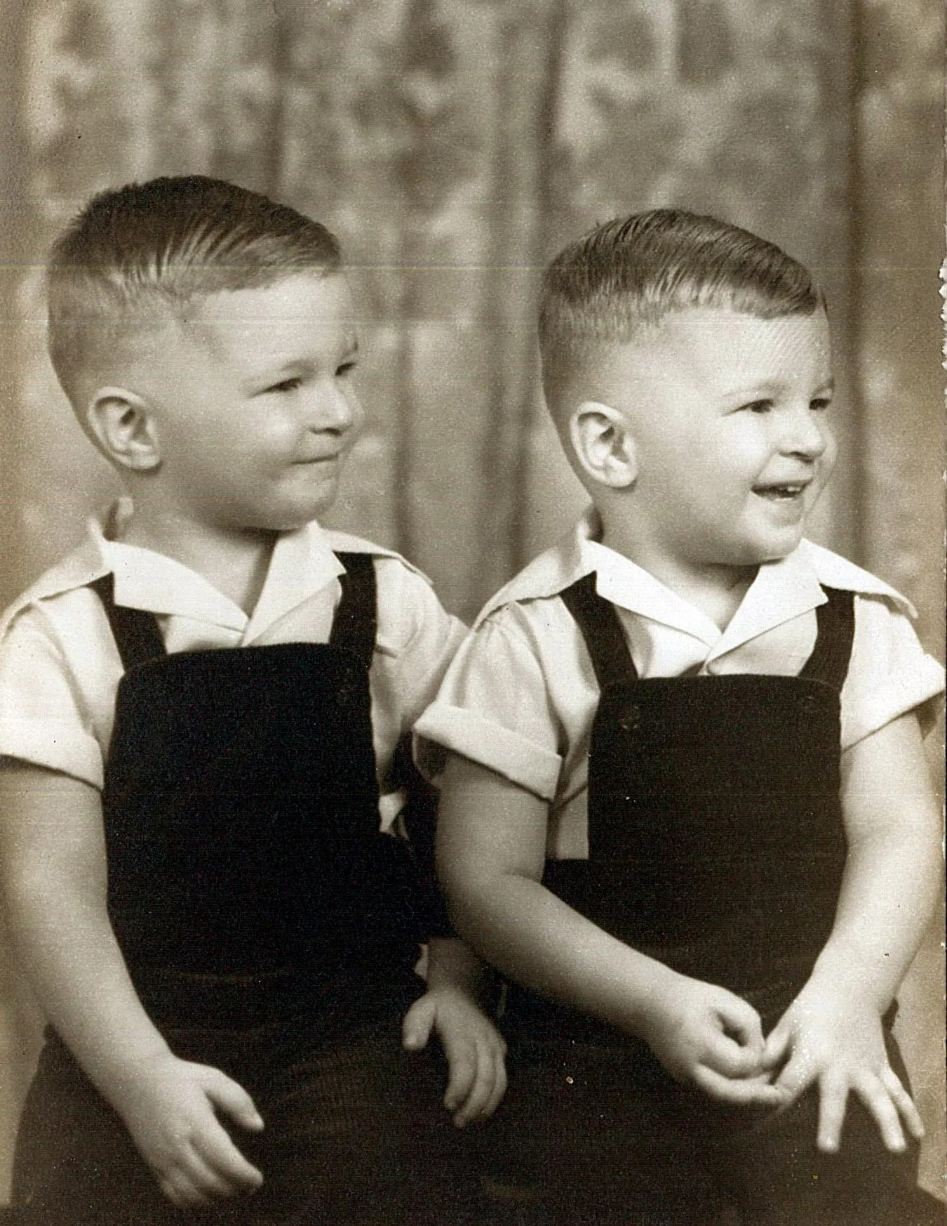 Jay with his twin brother.