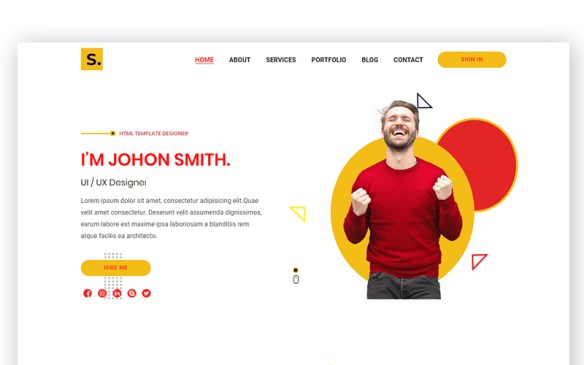Sawons- Creative Portfolio Landing Page Template