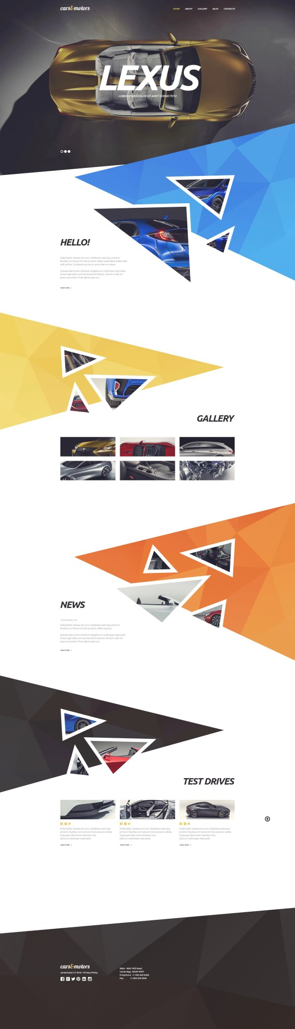 Creative Geometric Design WordPress Theme