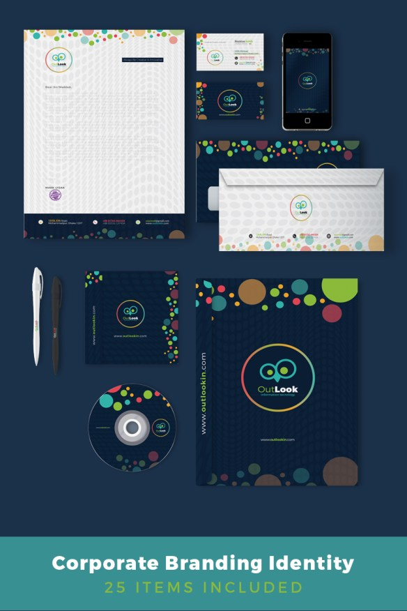 Corporate Identity Mega Branding - Colorful Circles