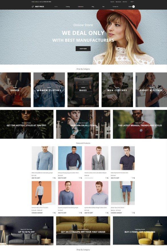 Best Price - Wholesale Store Multipage Creative Shopify Theme