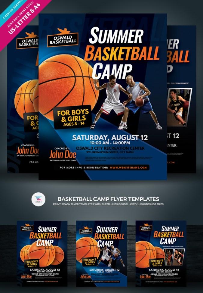 Basketball Camp Flyer Template