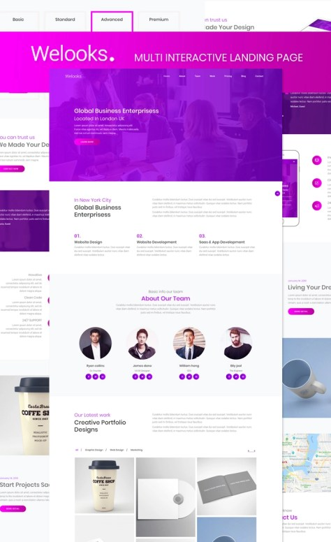 Multi Interactive Landing Page Template