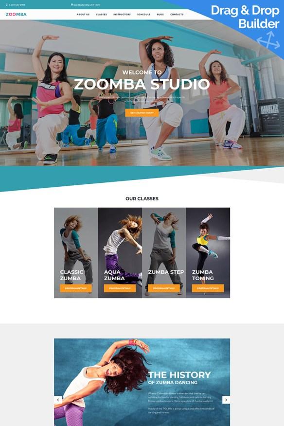 Zoomba Dance Studio Moto CMS 3 Template