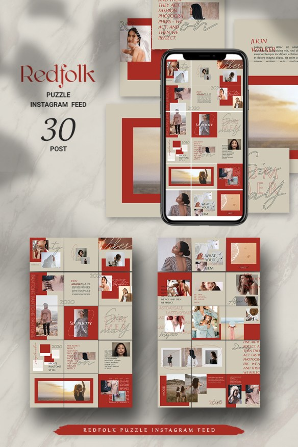 Redfolk Puzzle Instagram Feed Social Media