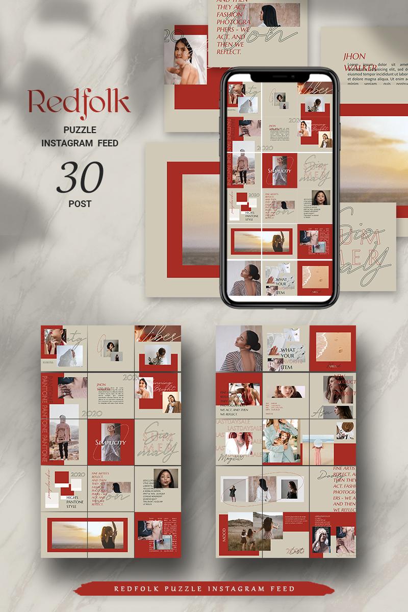 Redfolk Puzzle Instagram Feed Social Media