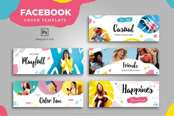 Trendy and Fun Facebook Cover Template