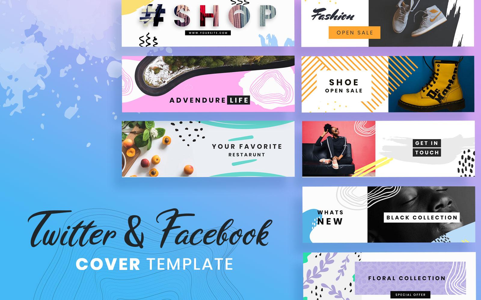 Facebook & Twitter Cover Social Media