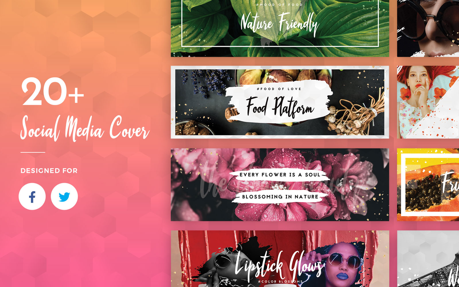 Facebook And Twitter Cover Template