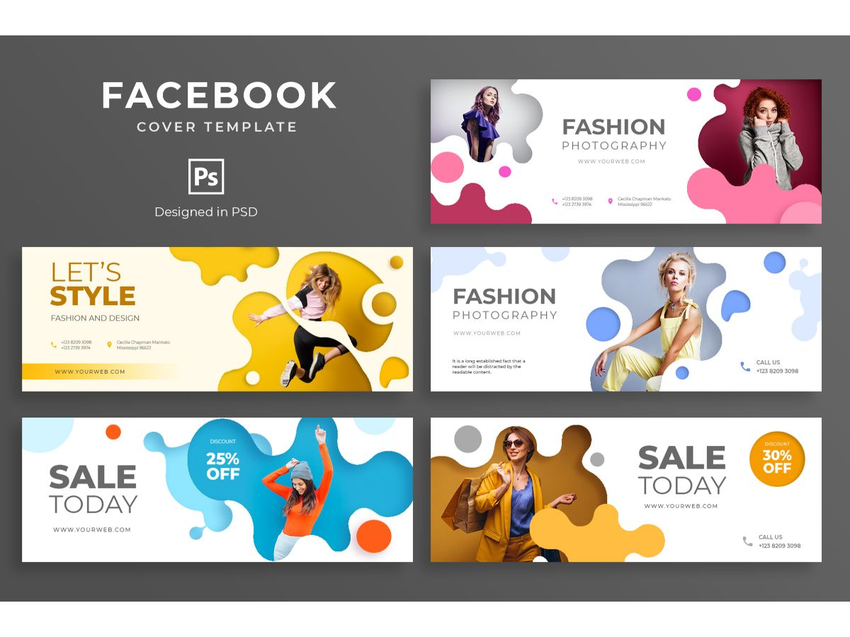 Facebook Template Fashion Photography Social Media