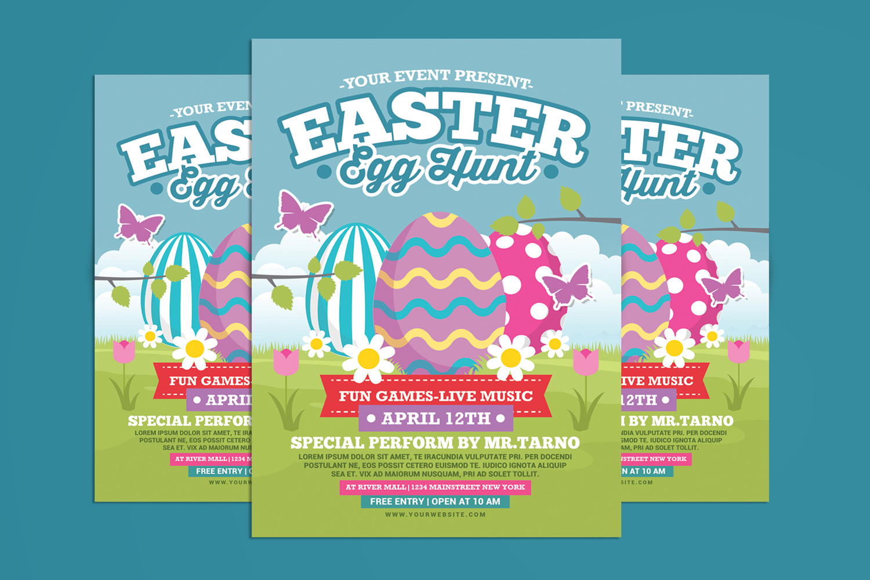Easter Egg Hunt For Kids Flyer Template