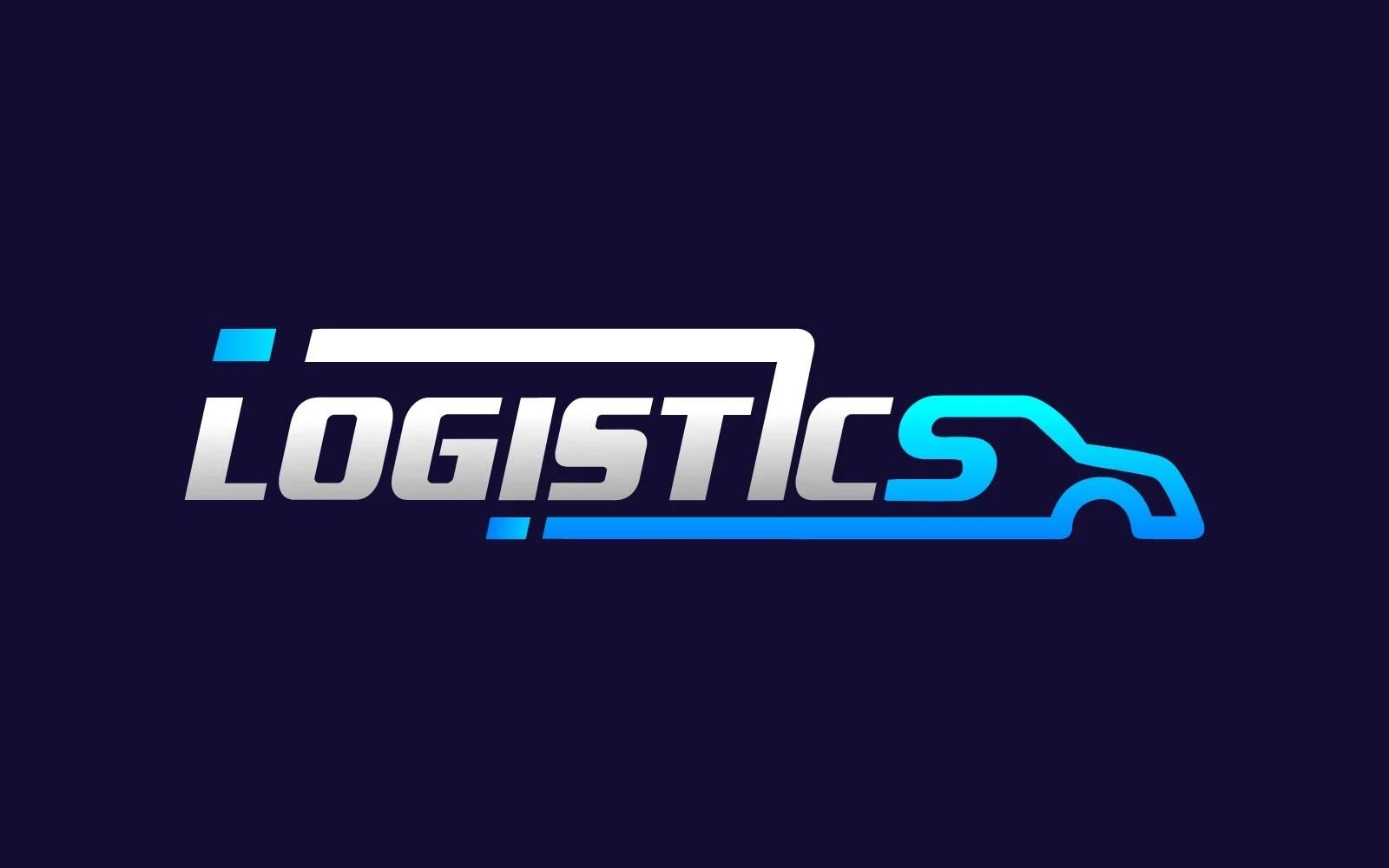 Creative Logistics Auto Truck Transport Logo Design Template