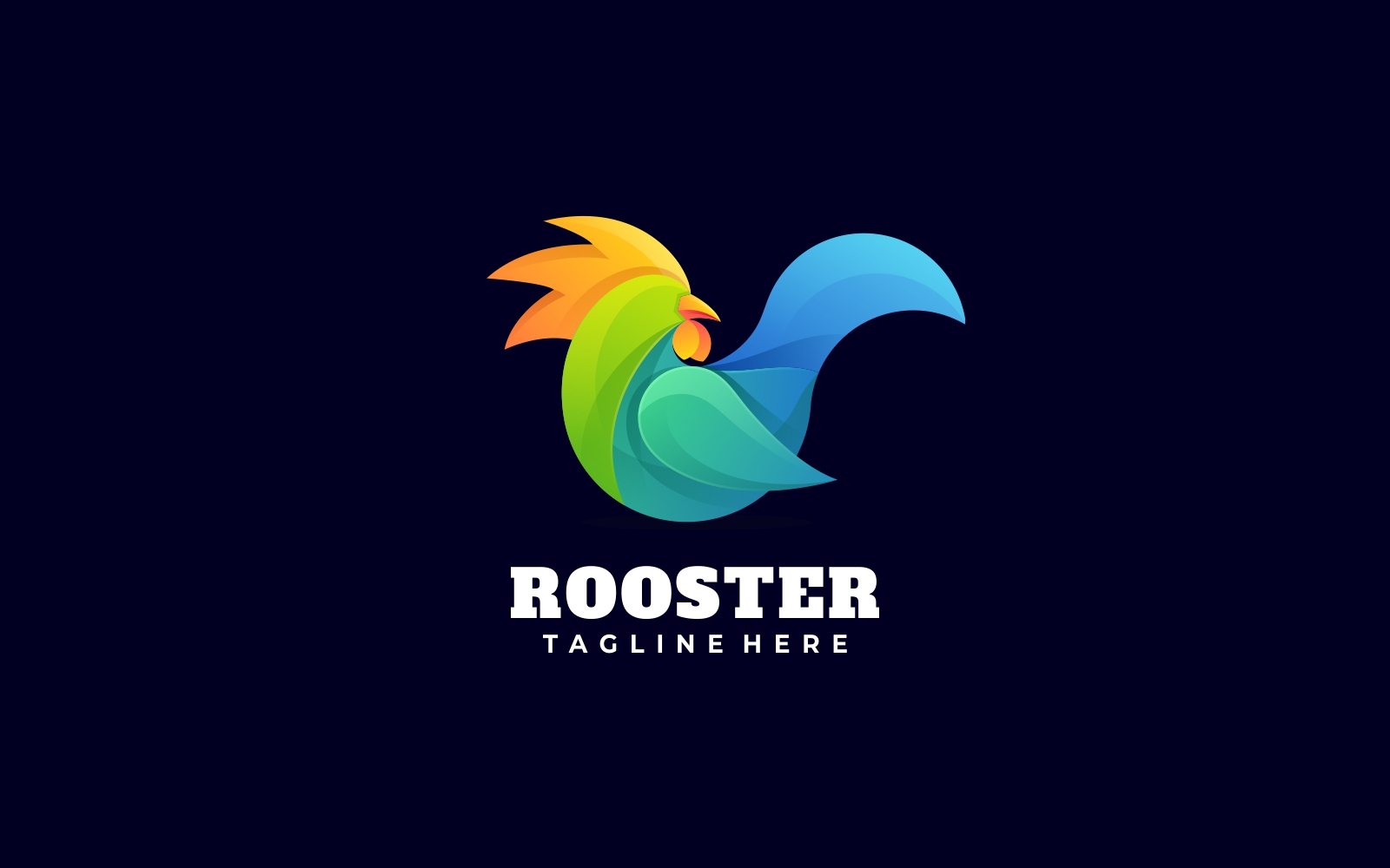 Rooster 2 Gradient Colorful Logo Template