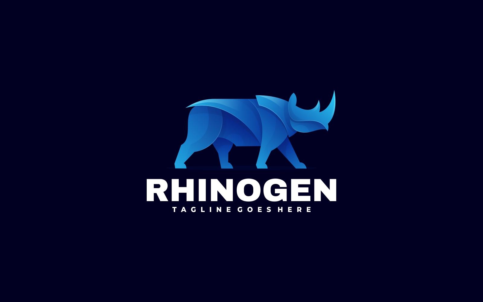 Blue Rhino 3D Gradient Style Logo