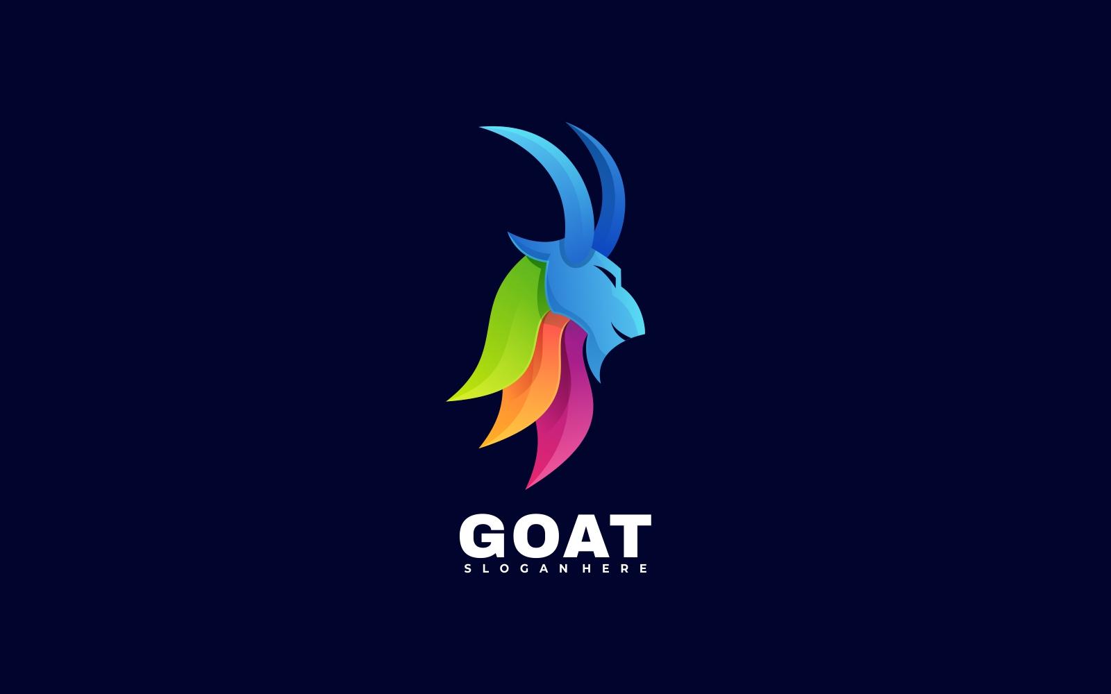 Goat Colorful Logo Templates