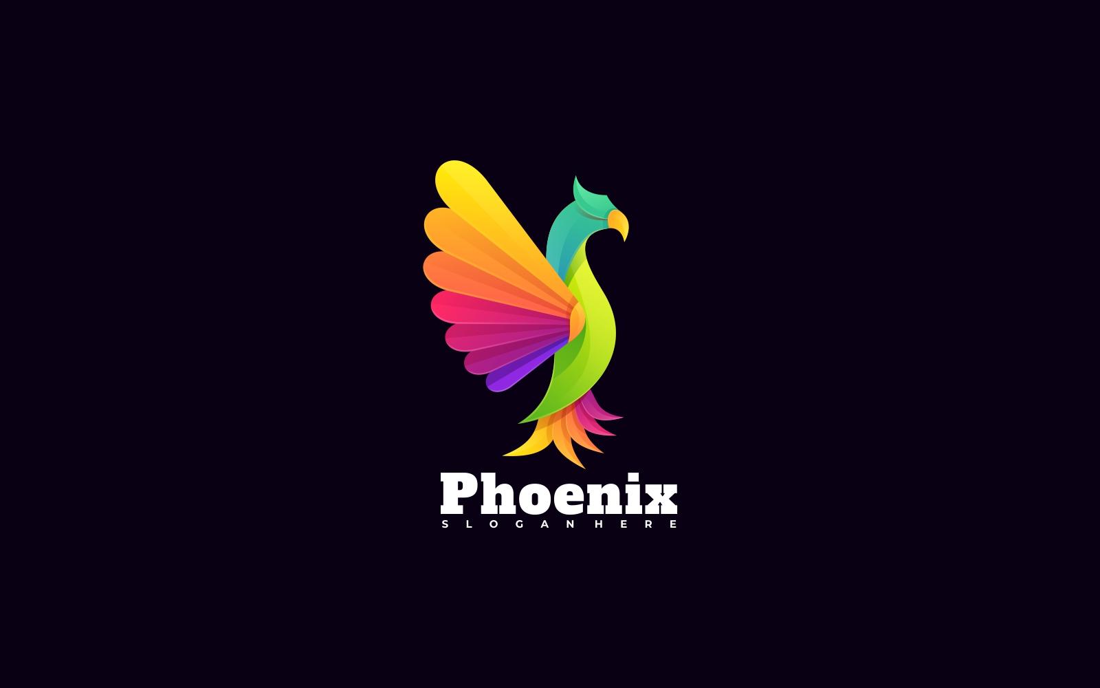Phoenix Colorful Logo Template