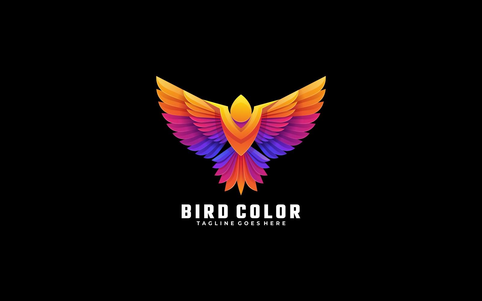 Bird Gradient Colorful Logo Style