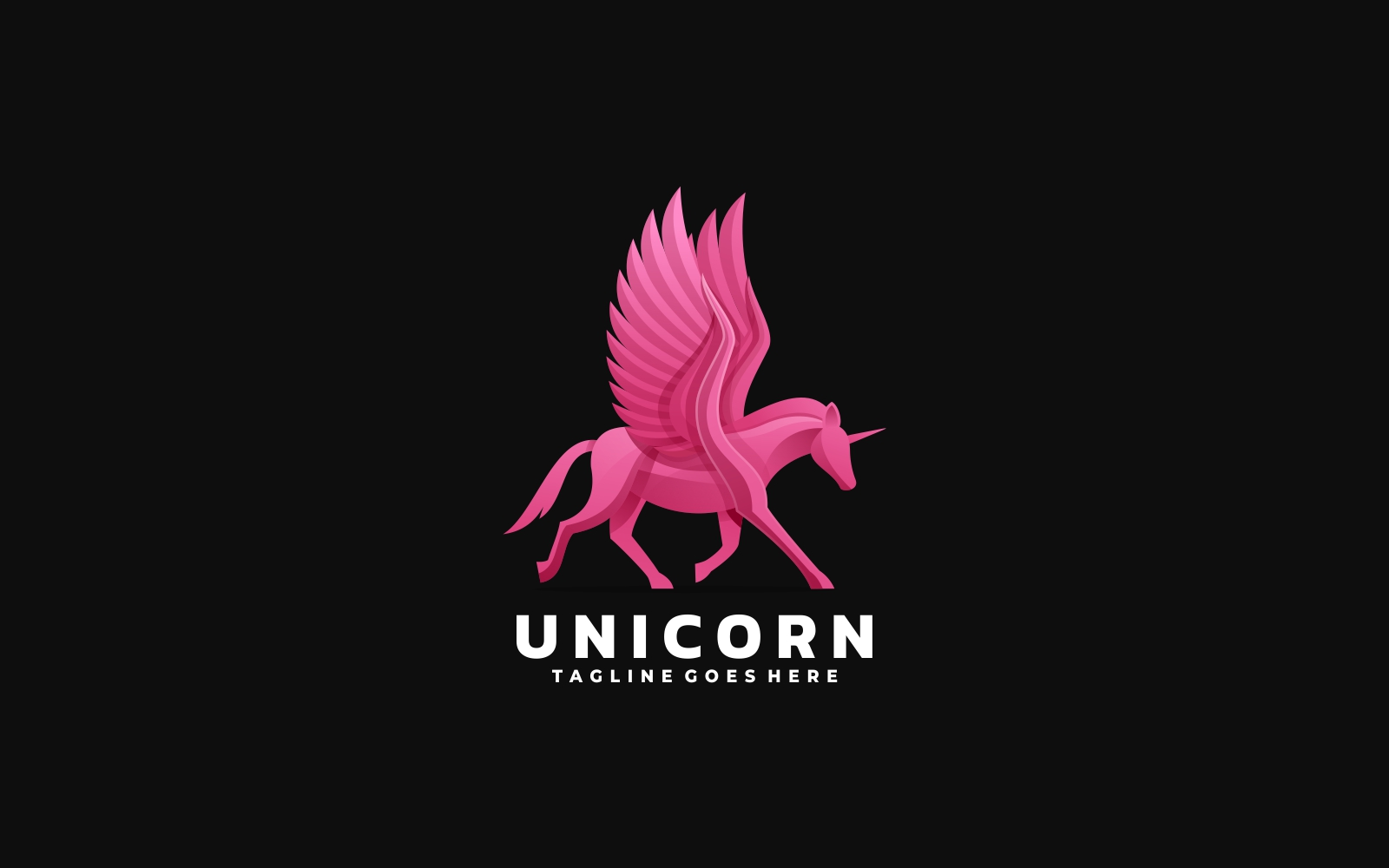 Pink Unicorn Gradient Logo