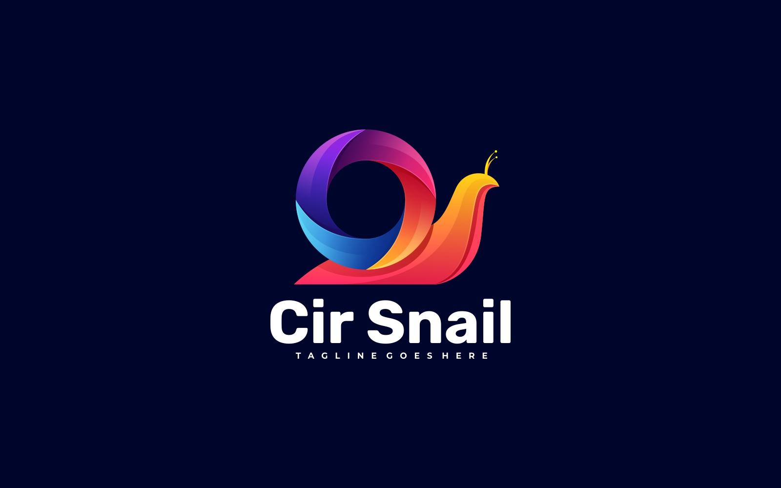 Circle Snail Colorful 3D Gradient Logo