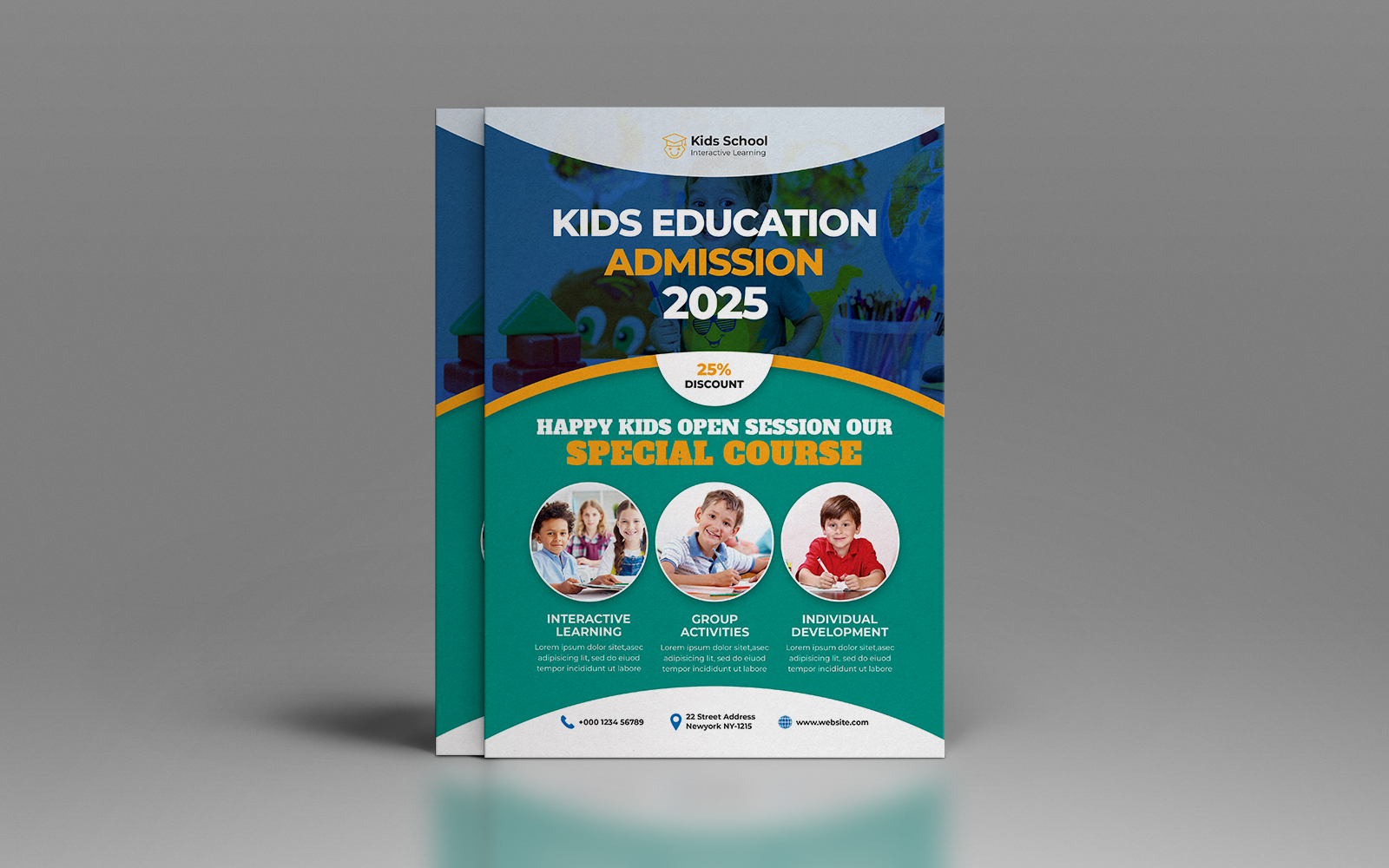 School Education Admission Flyer template
