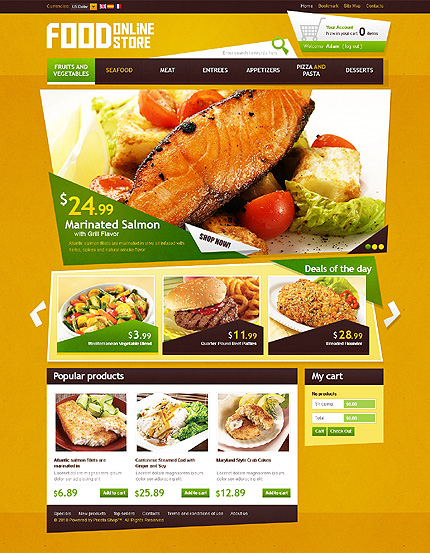 Prestashop Food Template