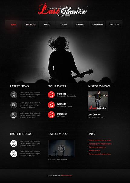 Homepagevorlagen für Rock Band   Website Templates