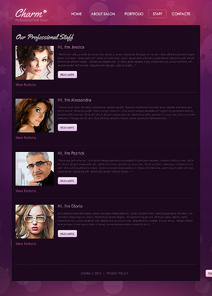 Hair Salon Website Template #36820
