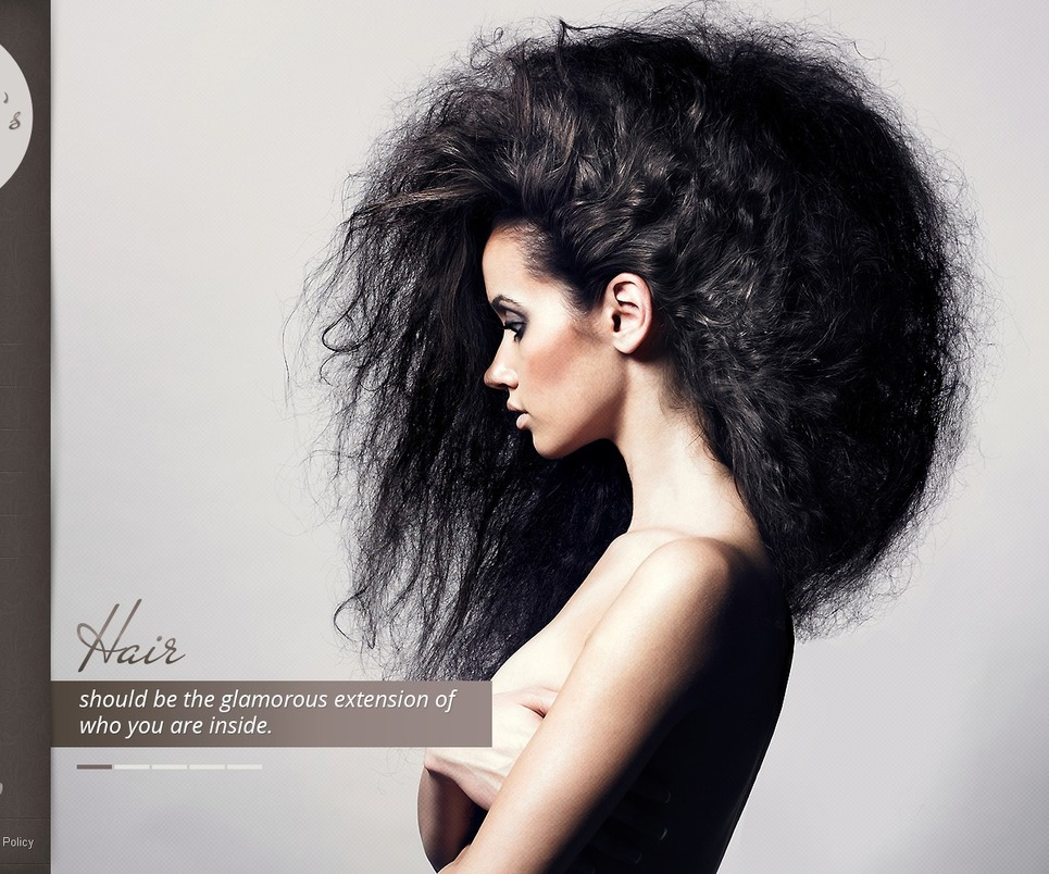 hair salon website template #39868